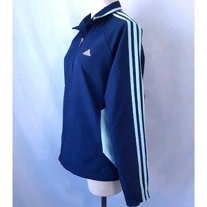 Adidas 3 Stripes Windbreaker Zip Track Jacket